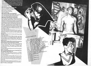 Beatnigs first page of layout from Maximum RocknRoll 1988